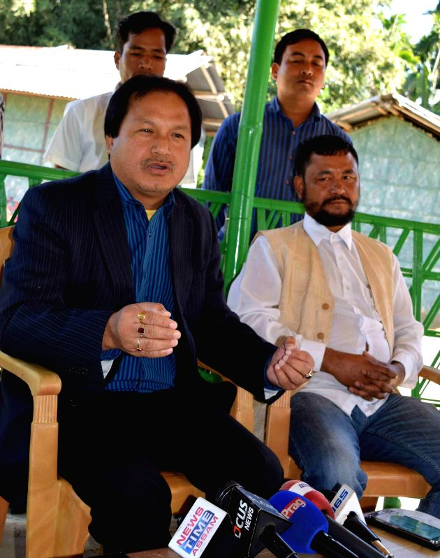 President of National Democratic Front of Bodoland –Progressive (NDFB-P) during a press conference regarding the recent Assam violence that left 73 dead, in Kokrajhar on Dec 30, 2014.