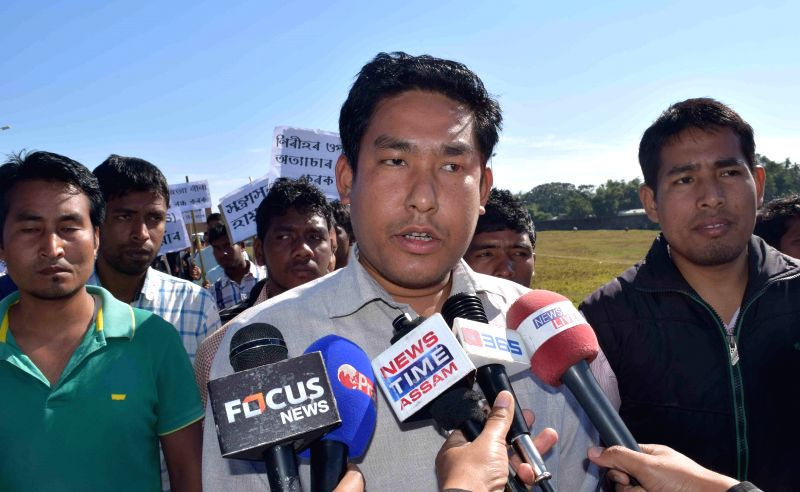 President of the Bodoland Students Union Swgwmsar Basumatary talks to press regarding the recent violence in Assam that claimed 73 lives, in Kokrajhar on Dec 30, 2014.