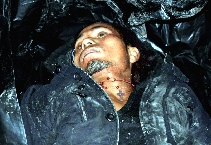 The body of NDFB (S) commander B. Jablang alias Jagat Basumatary, who was killed in an encounter with security forces at Kausibazar area under Serfanguri police station in Kokrajhar ...