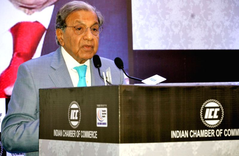 : Kolkata: 15th Finance Commission Chairman N.K. Singh addresses at an interactive session organised by Indian Chamber of Commerce in Kolkata on July 16, 2018. (Photo: IANS/PIB).
