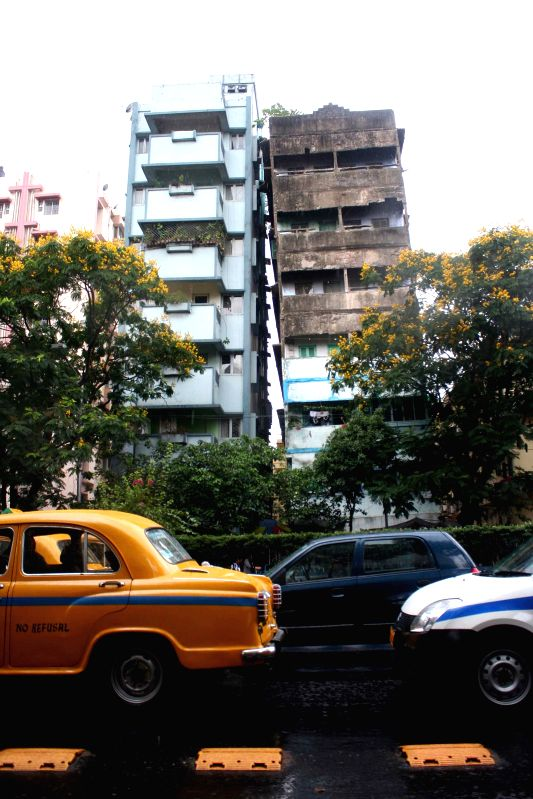 A building gets damaged after earthquake in Bhawanipur of Kolkata on April 25, 2015. According to the India Meteorological Department, the depth of earthquake was 10 km and measured 6 on the ...
