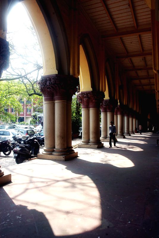 A deserted view of Calcutta High Court as the Calcutta High Court Bar Association has called a strike to press for their various demands in Kolkata, on March 16, 2015.