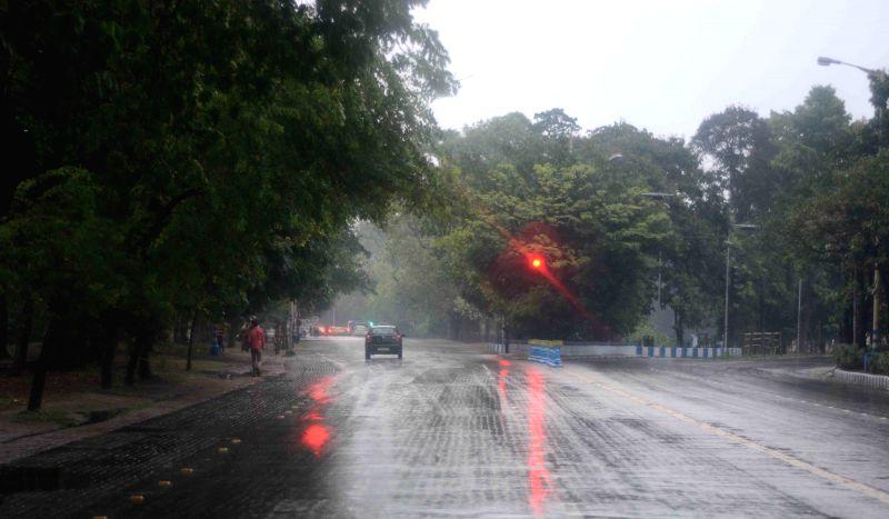 A rainy day in Kolkata.