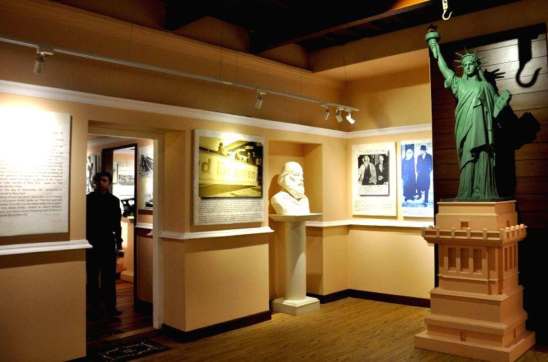 A view of the newly inaugurated `Rabindranath and the US Gallery` at Rabindra Bharati Museum, Jorasanko Thakur Bari in Kolkata, on Feb 7, 2015.