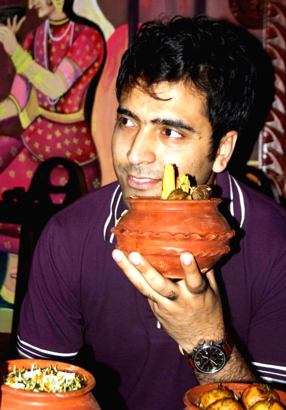 Actor Abir Chatterjee during a Biryani Festival in Kolkata, on Feb 24, 2015.