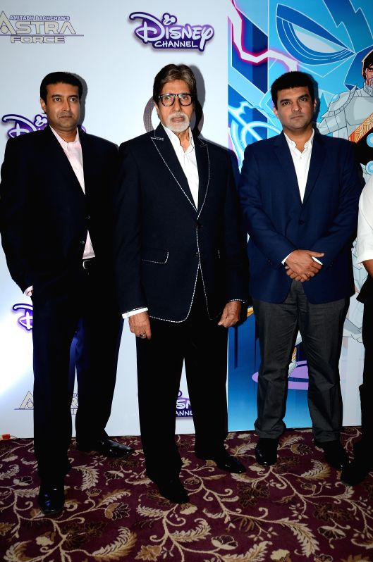 Actor Amitabh Bachchan at Astra Force conference.
