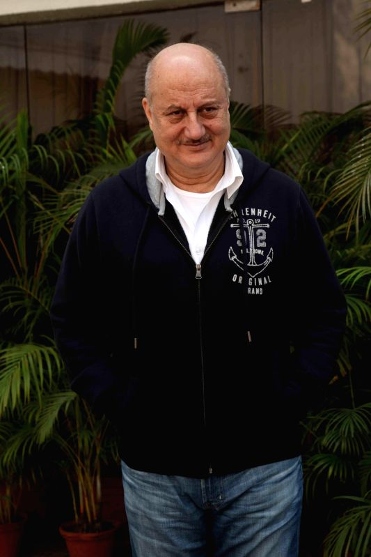 Actor Anupam Kher during a press conference to promote their movie Baby in Kolkata on Jan. 24, 2015. - Anupam Kher