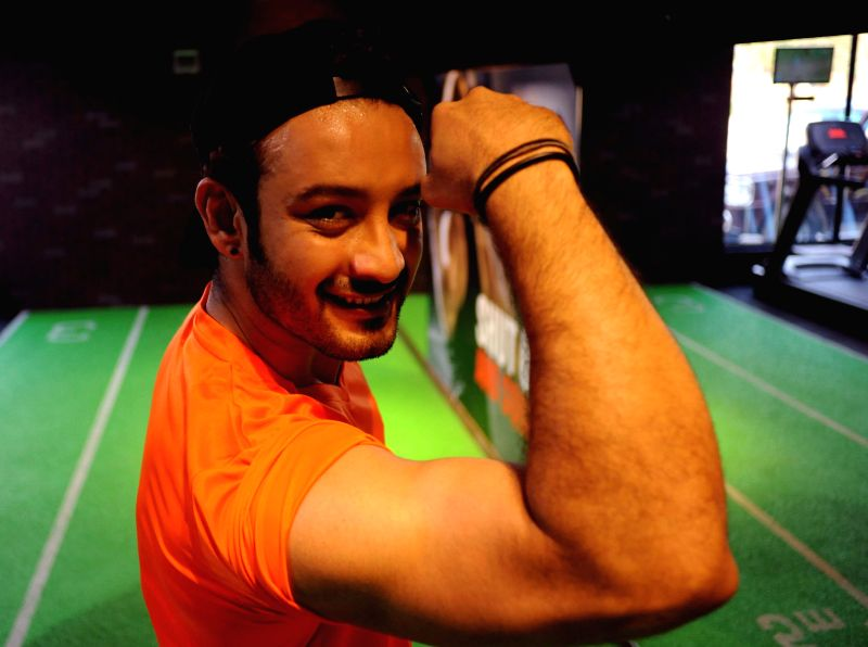 Actor Saheb Bhattacharya during the inauguration of a fitness centre in Alipore of Kolkata on March 10, 2015.