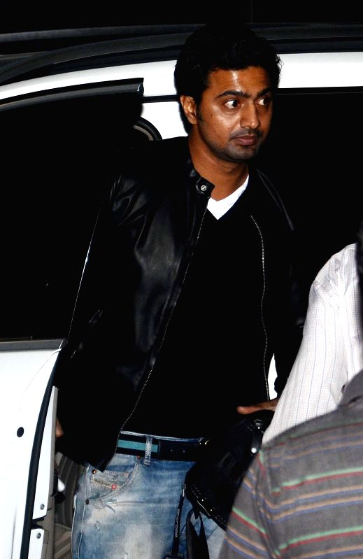 Actor turned politicians Dev arrives at Kolkata Airport before departing for Bangladesh as a part of West Bengal Chief Minister Mamata Banerjee's delegation on Feb 19, 2015.