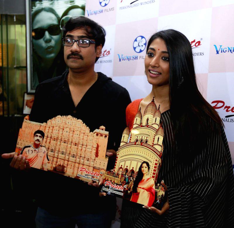 Actors Kaushik Sen and Paoli Dam during a programme organised in Kolkata, on Feb 9, 2015.