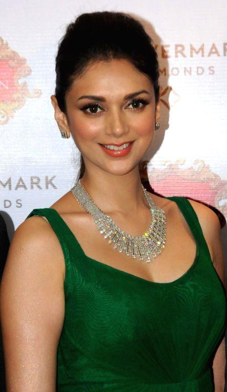 Actress Aditi Rao Hydari during a program in Kolkata, on Nov 28, 2014.