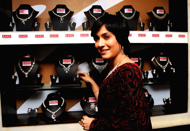 Actress Arpita Chatterjee during a jwellery collection launch in Kolkata on Jan 28, 2015
