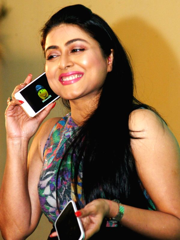 Actress Gargi Roy Chowdhury at the launch of a smartphone in Kolkata, on March 10, 2015.