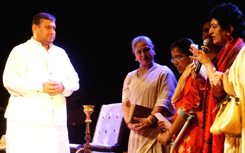 Actress Jaya Bachchan during inauguration of a three-day long Theatre Extravaganza in Kolkata, on March 16, 2015.