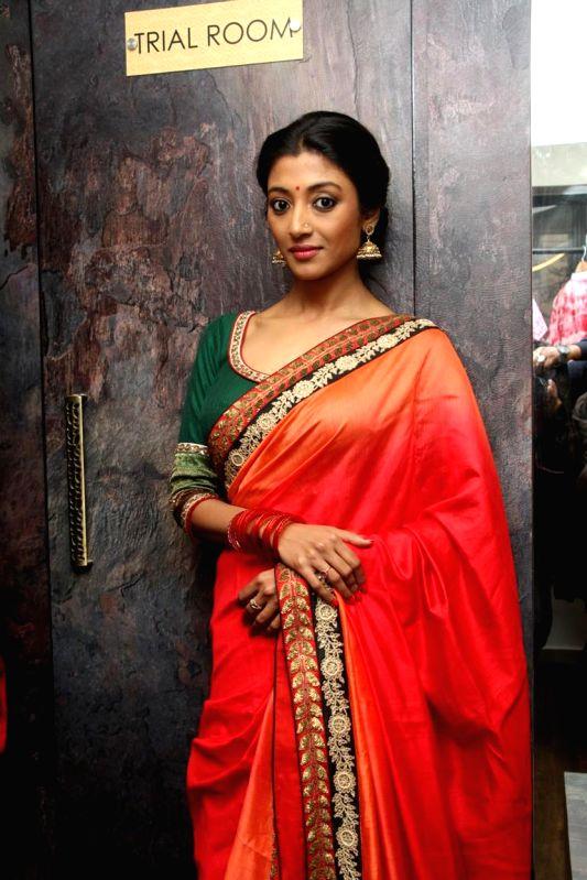 Actress Paoli Dam during a programme in Kolkata, on Nov 21, 2014.