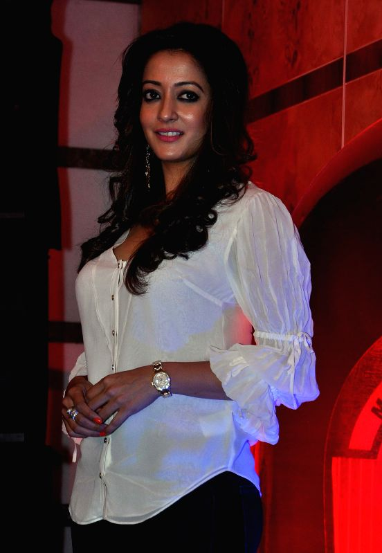 Actress Raima Sen during a programme in Kolkata, on April 24, 2015.