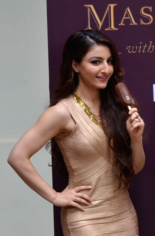 Actress Soha Ali Khan at the launch of an ice cream in Kolkata, on Feb 21, 2015.