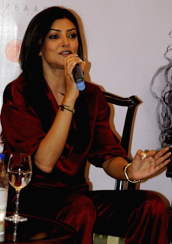 Actress Sushmita Sen during a press conference regarding her upcoming film `Nirbaak` in Kolkata, on April 29, 2015. - Sushmita Sen