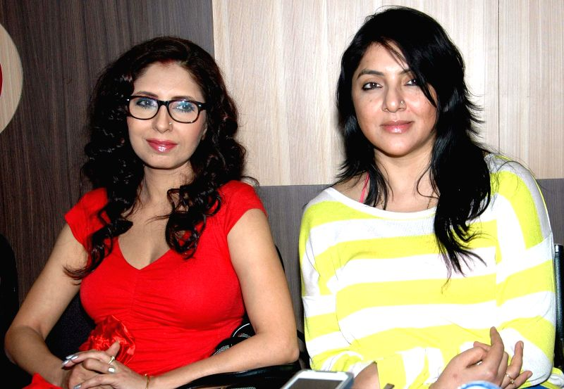 "Actresses Chaiti Ghoshal and Locket Chatterjee during a press conference regarding ""Airtel Run for Education"" in Kolkata, on Nov 25, 2014."