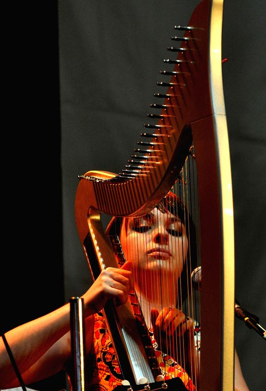 An artist performing during inauguration of 39th International Kolkata Book Fair in Kolkata on Jan 27, 2015.