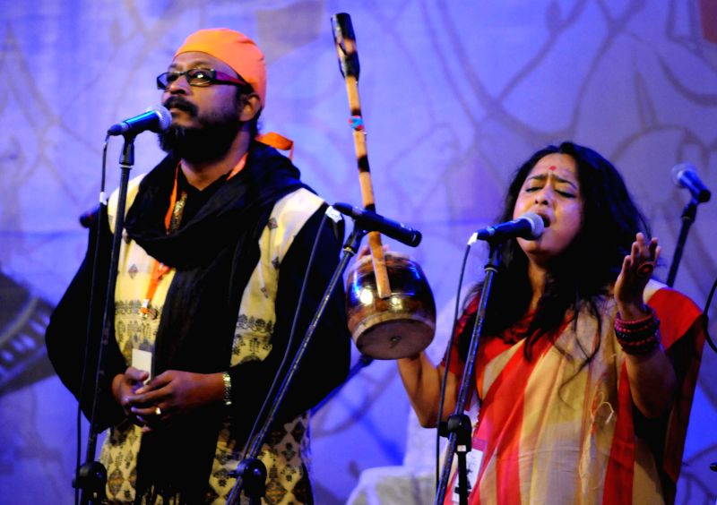 Artists perform during an International Festival of Sufi and Traditional Music in Kolkata, on Feb 6, 2015.