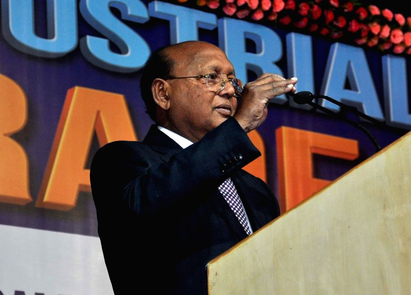 Bangladesh Minister of Commerce Toufail Ahmed addresses during the inauguration of the 27th Industrial India Trade Fair in Kolkata, on Dec 26, 2014.