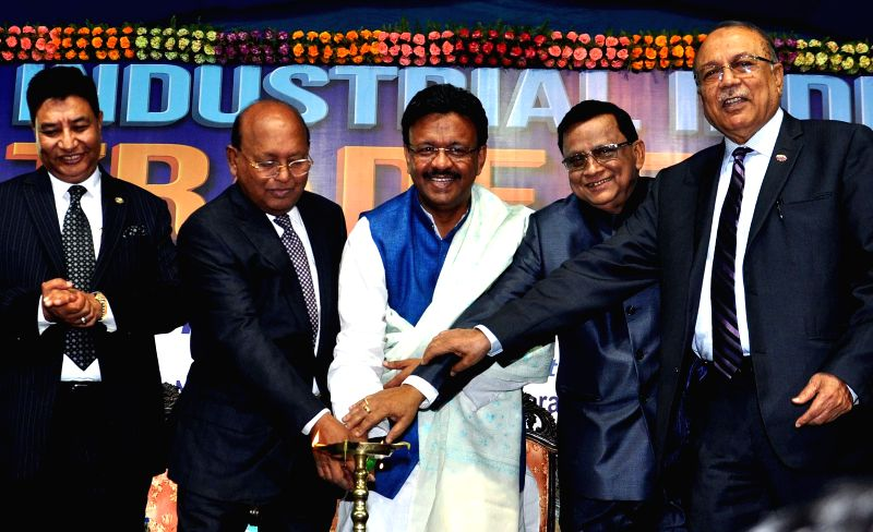 Bangladesh Minister of Commerce Toufail Ahmed and West Bengal Urban Development Minister Firhad Hakim and others during inauguration of the 27th Industrial India Trade Fair in Kolkata, on ... - Firhad Hakim