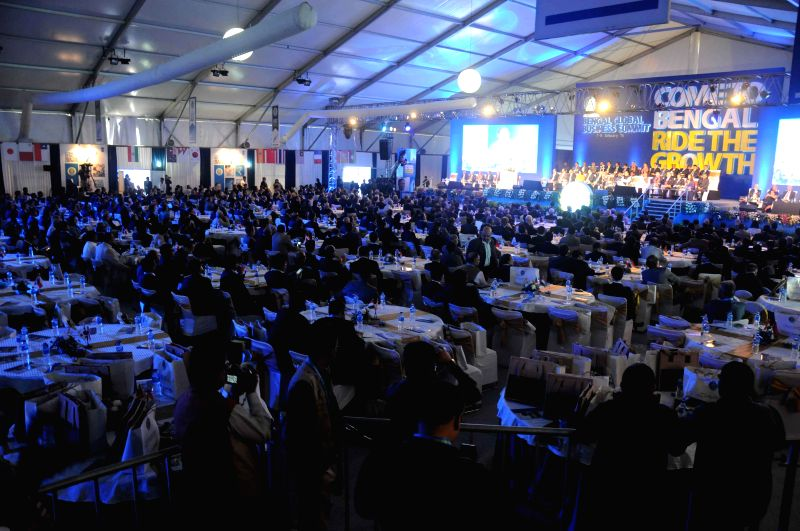 Bengal Global Business Summit 2015 underway at Salt lake stadium area in Kolkata on Jan. 7, 2014.