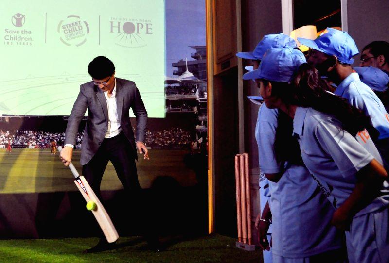 "Kolkata: CAB President Sourav Ganguly during a press conference regrading ""Street Child Cricket World Cup"" in Kolkata, on Feb 23, 2019. (Photo: Kuntal Chakrabarty/IANS)"