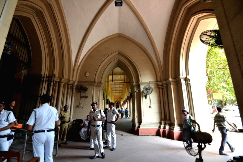 Kolkata: Calcutta High Court wears a deserted look as lawyers go on a strike after a scuffle broke out between the employees of Howrah Municipal Corporation (HMC) and lawyers of Howrah District Court, in Kolkata on April 25, 2019. Reportedly two civi