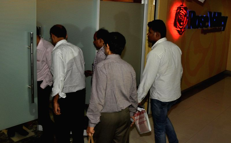 CBI officers raid Rose Valley office at Salt Lake Sector- V in Kolkata, on March 4, 2015.