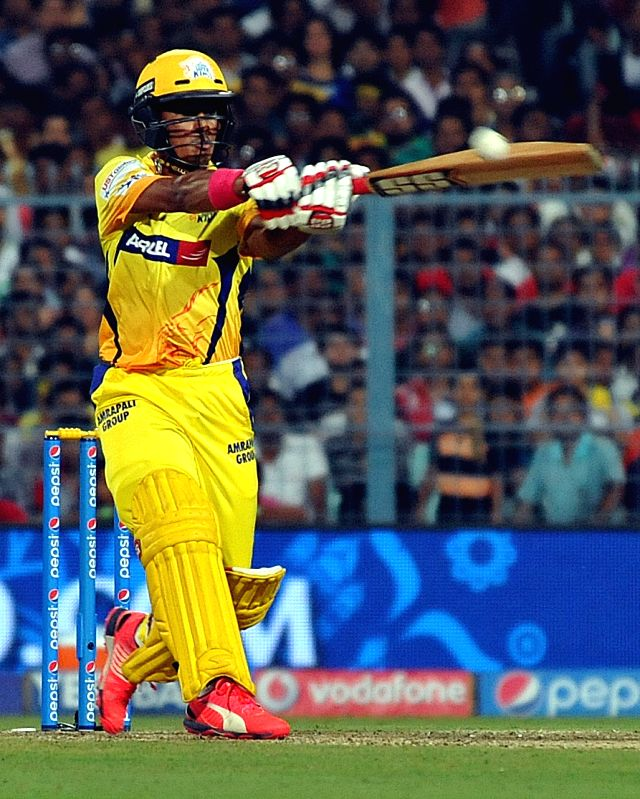 Chennai Super Kings batsman Pawan Negi in action during an IPL-2015 match between Chennai Super Kings and Kolkata Knight Riders in Kolkata, on April 30, 2015. - Pawan Negi
