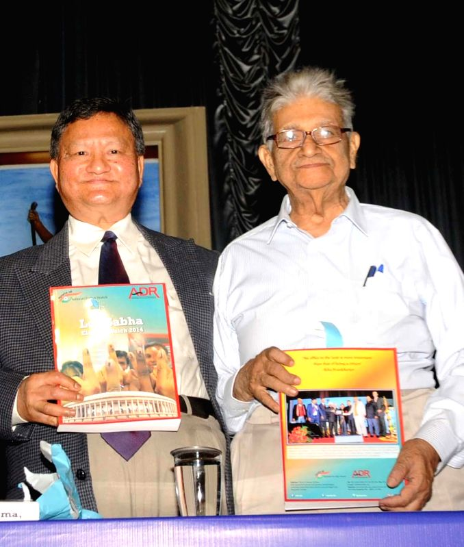 Chief Election Commissioner H.S.Brahma and Justice (retd) Chittotosh Mukherjee during the inauguration of 11th Annual National Conference on Electoral and Political Reforms in Kolkata on ... - Chittotosh Mukherjee