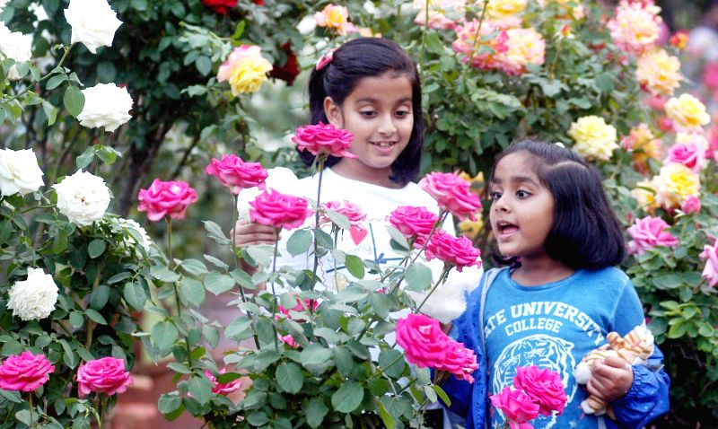 Children during their visit to Agri Horticultural Garden in Kolkata, on Jan 2, 2015.