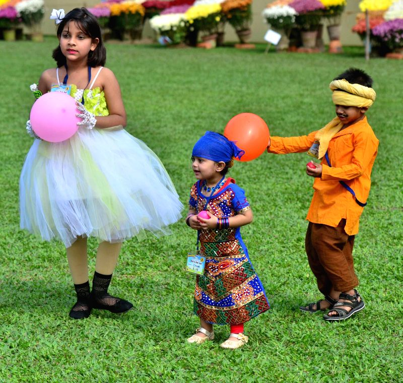 Children participate in a Baby Show at Agri Horticultural Society Of India in Kolkata on Jan 4, 2015.