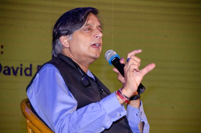 Kolkata: Congress leader and author Shashi Tharoor during Apeejay Kolkata Literary Festival in Kolkata on Jan 18, 2019.