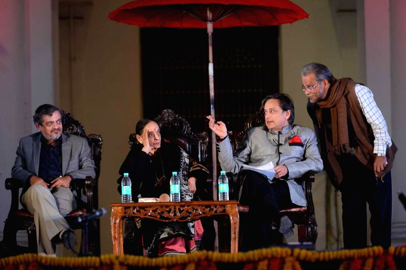 Congress MP from Thiruvananthapuram Shashi Tharoor during the inauguration of Kolkata Literary Festival 2015 at the National Library auditorium in Kolkata on Jan 14, 2015.