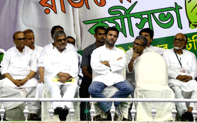 Congress vice president Rahul Gandhi during a Congress worker meeting in Kolkata on June 6, 2015.