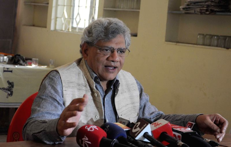 : Kolkata: CPI-M general secretary Sitaram Yechury addresses a press conference in Kolkata, on Nov 8, 2015. (Photo: IANS).