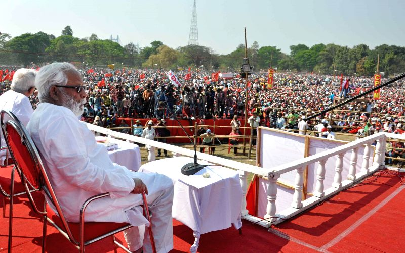 CPI (M) leader Buddhadeb Bhattacharya during the 24th West Bengal State Conference of the party being held at the Brigade Parade Ground in Kolkata, on March 8, 2015.