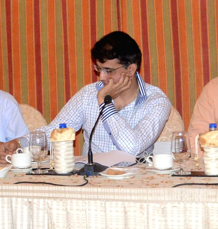 Formar Indian crickter Sourav Ganguly during IPL Governing Council meeting in Kolkata on May 25, 2015. - Sourav Ganguly