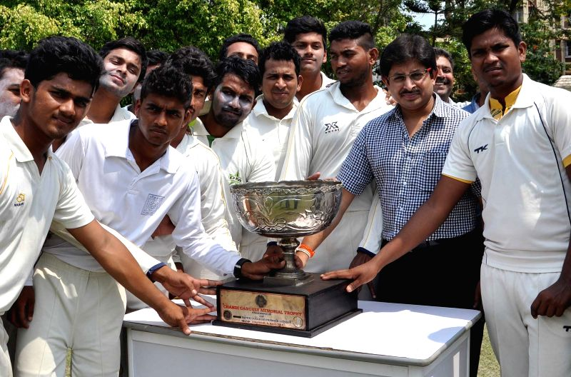 Former cricketer Snehasish Ganguly during inauguration of `Chandi Ganguly Memorial Trophy` in Kolkata, on April 27, 2015.