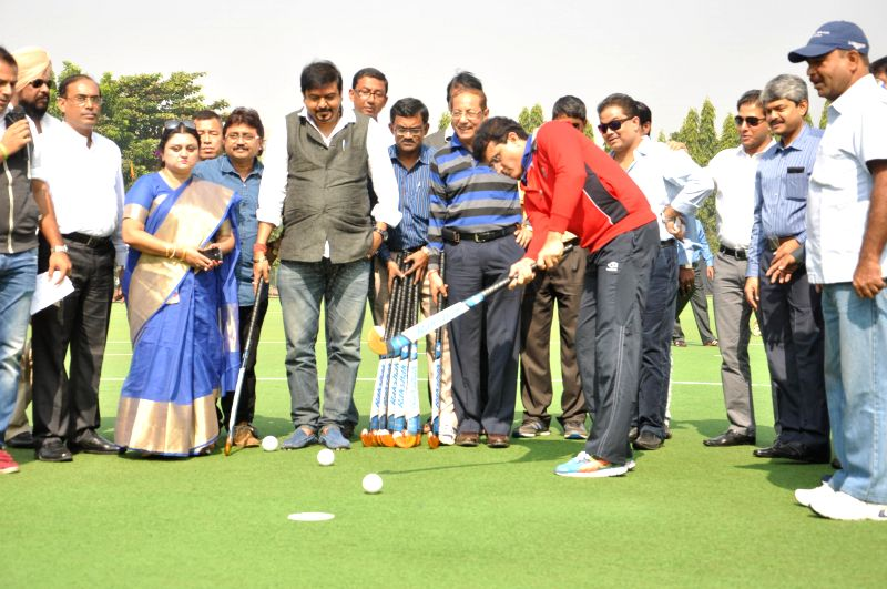 Former cricketer Sourav Ganguly at the inauguration of the 119th All India Beighton Cup Hockey Tournament in Kolkata, on Nov 24, 2014. - Sourav Ganguly