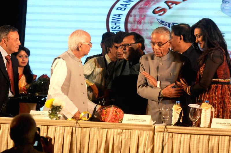 Former Governor of Chhattisgarh Shekhar Dutt, West Bengal Governor Keshari Nath Tripathi, Former West Bengal Governor M. K. Narayanan, West Bengal Education Minister Partha Chatterjee and ... - Partha Chatterjee, Chhattisgarh Shekhar Dutt and Keshari Nath Tripathi