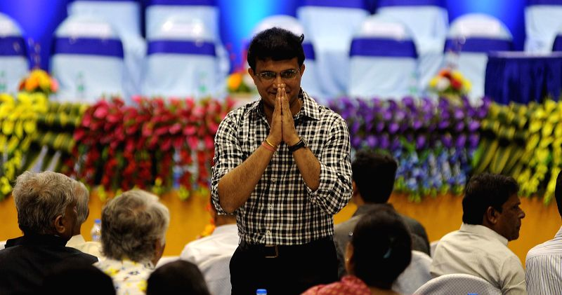 Former Indian cricketer Sourav Ganguly during a CAB programme in Kolkata, on April 1, 2015. - Sourav Ganguly
