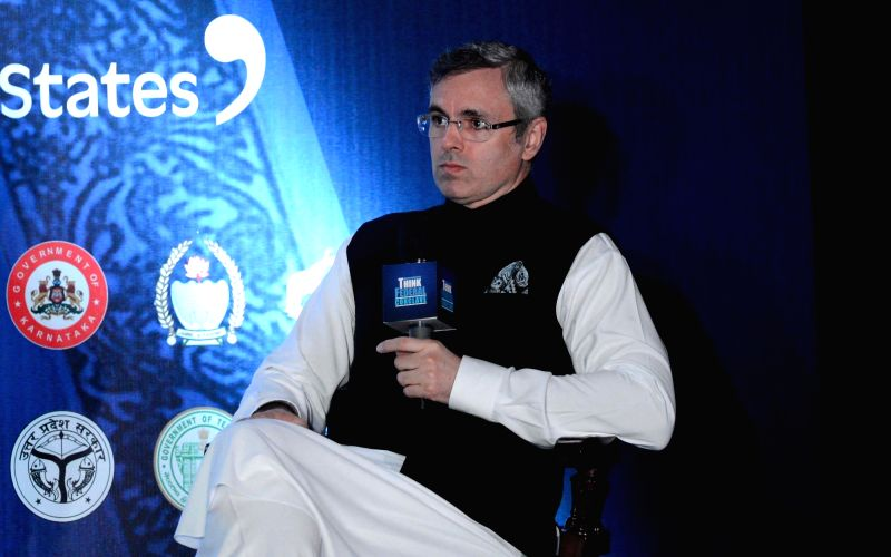 : Kolkata: Former Jammu and Kashmir Chief Minister and National Conference leader Omar Abdullah addresses during 'Think Federal Conclave', in Kolkata on July 28, 2018. (Photo: IANS).