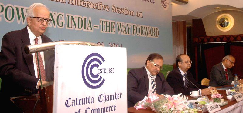Former RBI Governor Bimal Jalan during an interactive session in Kolkata, on Dec 22, 2014.