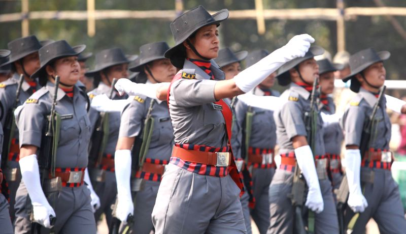 Full dress rehearsals for Republic Day Parade 2015 underway at Red Road in Kolkata, on Jan 24, 2015.