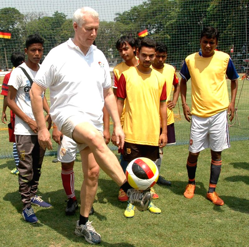German Consul-General Rainer Schmiedchen during `German Consulate Cup 2015` in Kolkata, on March 15, 2015.