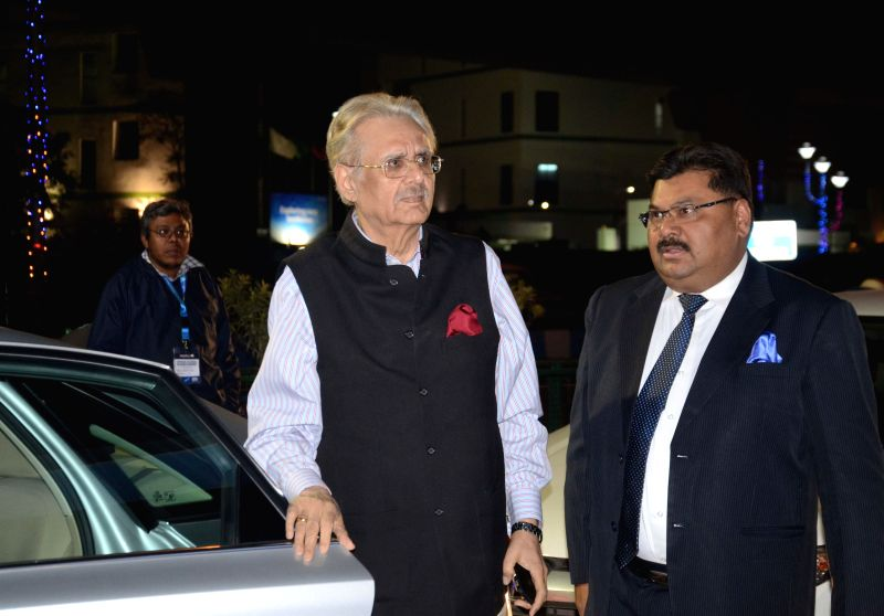 ITC Chairman Y.C Deveshwar arrives at the inauguration of Bengal Global Business Summit 2015 in Kolkata on Jan 6, 2015.